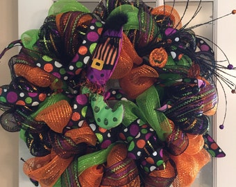 Witch's Boot- Halloween Wreath