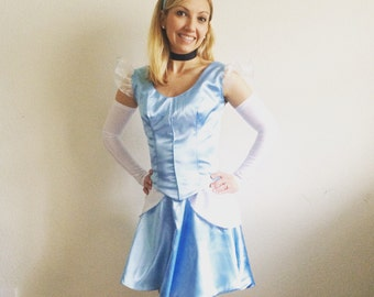 Cinderella Inspired Adult Running Costume