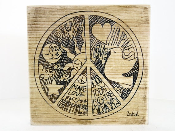 Peace Sign Bedroom Accessories: Home Living Peace And Love Peace Decor Rustic Wall Decor