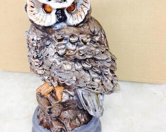 Solar Owl Outdoor Garden or Lawn Ornament
