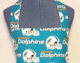 Miami Dolphins- Full Size BBQ Apron with Pockets.