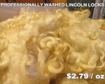 Professionally Washed Lincoln Wool Locks - Angel Hair - Santa Beards