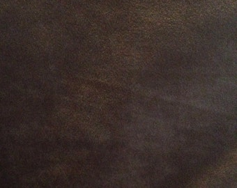 Plain Chocolate Brown Faux Suede Cloth 1.5 yards