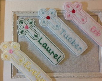 Cross Bookmark Personalized Always Precut