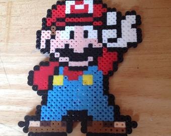 Super Mario Perler Bead Magnet