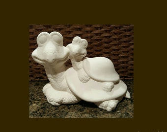 Ceramic Turtles | Garden Turtles | Paint Your Own Pottery | Ceramic Bisque | Turtles | NOT PAINTED