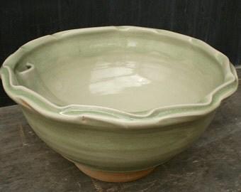 SALE! Handthrown Pottery Basin Sink- modern celadon ceramic sink for the bathroom