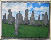 Outlander inspired canvas wall hanging, Callanish standing stones, Scotland, photo art tapestry, birthday gift