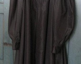 Vintage 1970s Kenzo Black Silk A Line Dress