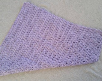 Crocheted Shell Newborn Blanket
