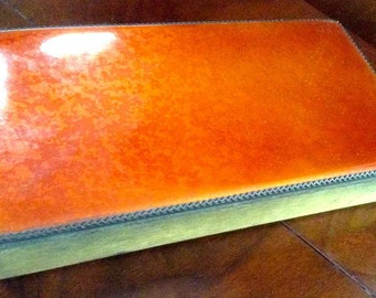 """Vintage """"Evans Company"""" Hand Enameled Brass Cigarette/Jewelry Box - Made in USA - 1940's to 1950's"""