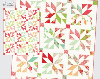 "Lucky Quilt pattern by Camille Roskelley for Thimble Blossoms #162 Layer Cake friendly Finished quilt is 62"" by 81"""
