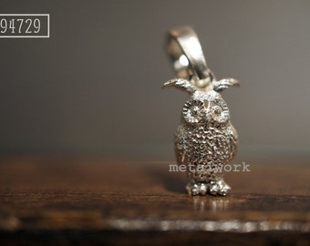 MW P1053 The 925 Silver Owl Charm