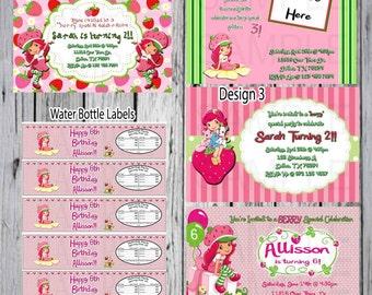 Strawberry Shortcake Party-Strawberry theme-Strawberry Shortcake birthday invitation-Printable invitation-Decorations-Party