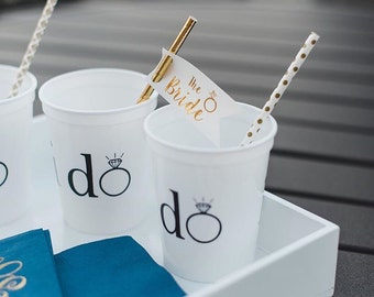 Bride Straw tag, party straws, striped straws, bachelorette party favors, wedding party, the bride, straw flags