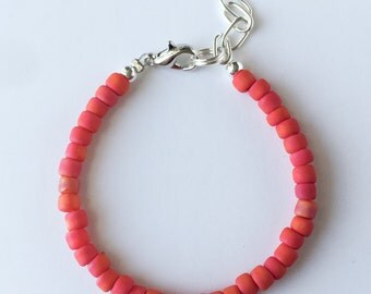 NEW Deep Coral Stacking Bracelet