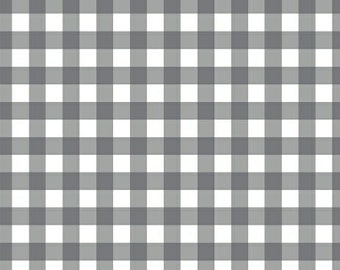 Fabric by the Yard - Fat Quarter Bundle - Grey Gingham Fabric - Maribel - Windam Fabric - Grey Fabric - Gingham Fabric - - Now on Sale