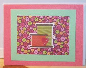Any Occasion Card - Heart Sewing Supplies
