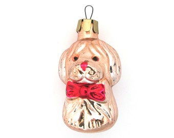 Dog, Soviet Christmas tree decoration, Christmas glass ornament, Russian New Year,  USSR, Soviet Union, 1970s