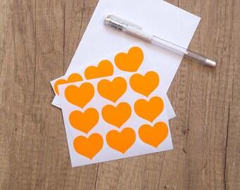 neon orange letter etsy