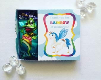Rainbow unicorn matchboxes