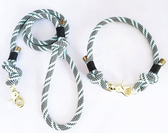 Dog collar and leash set - set collar and leash graphic Paracord for dogs