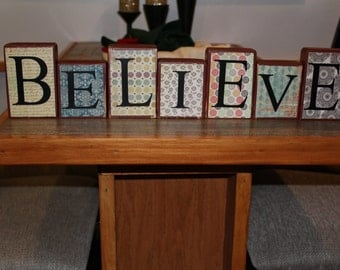 Believe Wooden Blocks