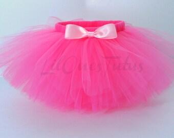 Hot Pink Tutu Skirt - Babies - Toddlers - Kids - Birthday
