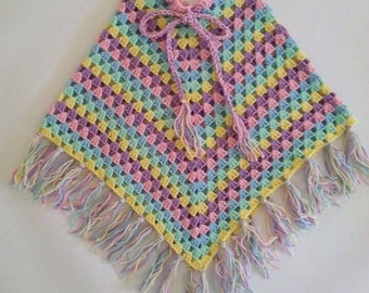 Poncho, custom made you pick the colours,