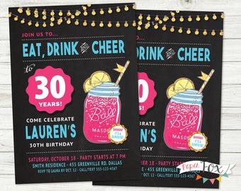 Th Birthday Invite Etsy - Birthday invitation 30 years old