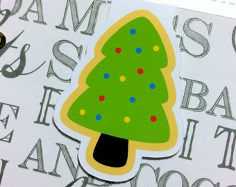 One Magnetic Bookmark/Page Marker. Christmas/Holiday - Tree Cookie