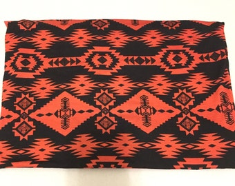 Orange autumn tribal swaddle blanket
