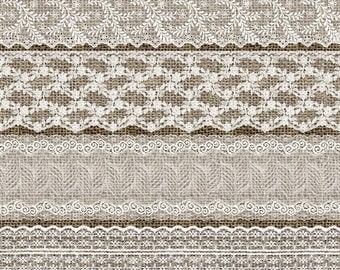 White Lace Borders 2, Vintage Lace overlays clip art scrapbook embellishments, png lace png clipart digital instant download commercial use