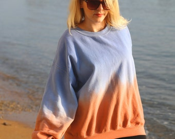 BlueOrange dip dye ombre sweatshirt - S M L XL