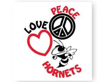 Peace, Love, Jackets, Bee, Hornet, School, Illustration, TShirt Design, Cut File, svg, pdf, eps, png, dxf