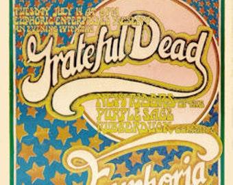 Grateful Dead Concert Poster 1970 San Rafael - FREE Shipping