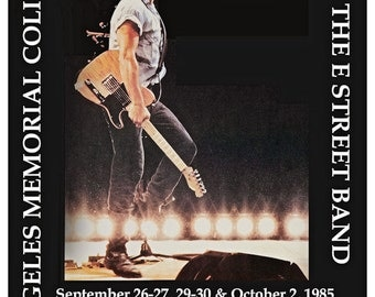 Bruce Springsteen Concert Poster 1985 Born in the USA L A Coliseum - Ships FREE