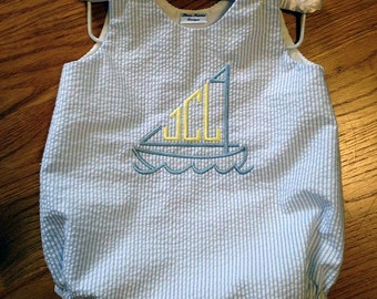 Monogrammed Sailboat Bubble