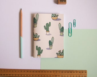 A6 Notebook / Cactus Notebook / Pocket Notebook / Cute Stationery / Small Notebook / Cacti Stationery / Gifts for Her