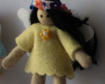 light yellow fairy doll