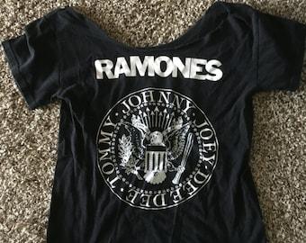Modified Ramone's off the shloulder shirt