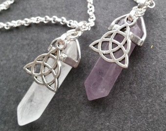 Triquetra and Amethyst Necklace