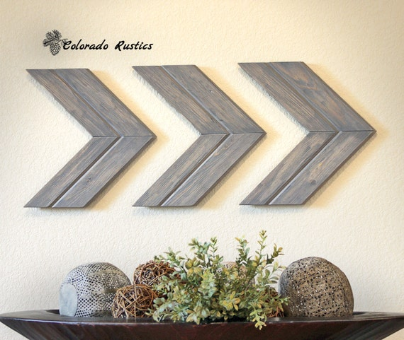 Chevron Wood Wall Decor : Arrow wall art chevron d?cor rustic