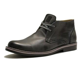 Moo-chila Chukka Boots Urbano Gray Leather Shoes Moochila