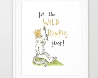 Let the Wild Rumpus Start - Digital print -wild things - instant download - nursery print