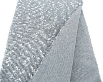 Fancy High End Gray and Off White Open Weave Sweater Knit Fabric 1 Yard and 24 Inches