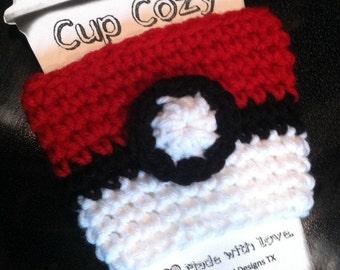 Pokéball Coffee Cozy / Pokémon Coffee Sleeve