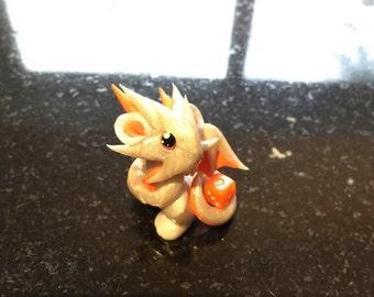 Pearl Orange Mini Dragon Guardian
