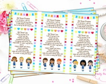 Scout Promise Printable - Scout Bookmark - Printable - Print at Home - Instant Download - Scout Promise - Troop Bookmark