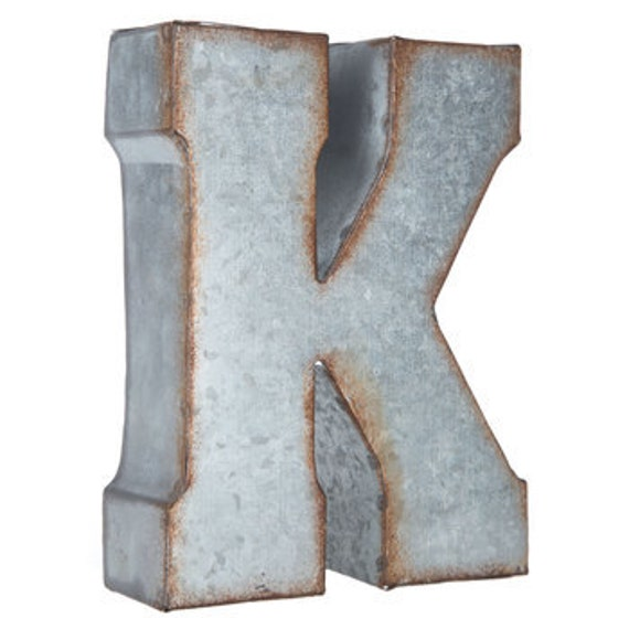 Galvanized Metal Letter / Metal Letters/ 7 or 20 inch